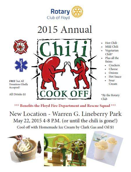 Floyd Rotary Chili cook off may 2015