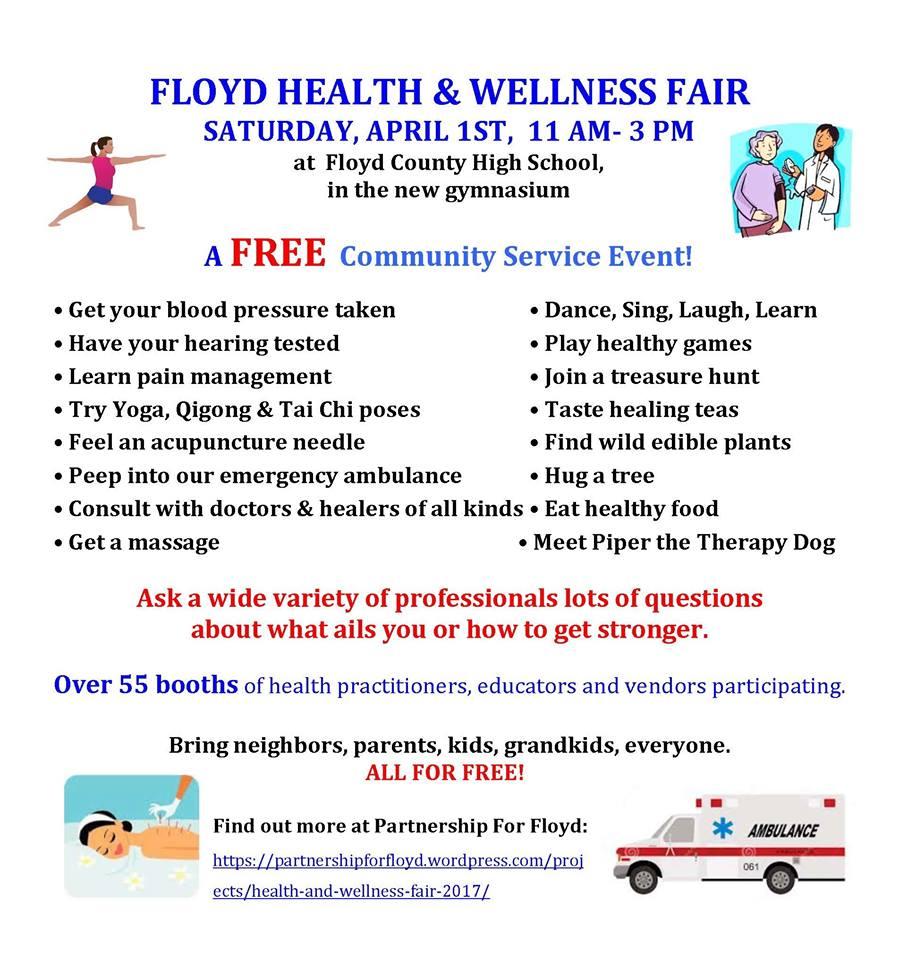 Health And Wellness: FLOYD HEALTH & WELLNESS FAIR
